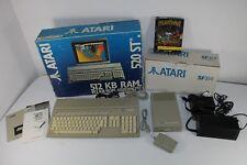 Atari 520 ST Computer mit SF314 Floppy Laufwerk / OVP / Spiel Powermonger