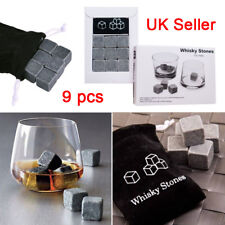 12pc Whisky Ice Stones Drink Cooler Cubes Whiskey Scotch Rocks Granite CHILLE FK