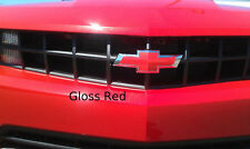 "2- 5""x10"" Gloss Red vehicle graphic film sheets. Universal Vinyl Bowtie Wraps"