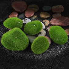 New 5Pcs Artificial Moss Rocks Balls Cobbles Flower Topiary Tree Pots Foliage