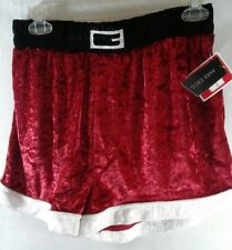 Mens Velor Christmas Santa Claus Boxers  BRAND NEW W TAGS Medium