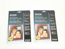 2 Epson Ultra Premium Photo Paper Glossy 5x7 20 Sheets New Sealed total 40 sheet