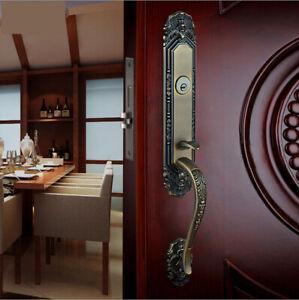 Gove Zinc Alloy Luxurious Mortise Lock Entry Entrance Front Door Handle Lockset