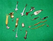 SELECTION OF 13No VARIOUS SPOON , DEVON , RUBBER AND METAL LURES ,