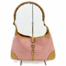 Gucci Tote Bag  Pinks Suede Leather 1707907