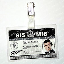 James Bond 007 ID Badge George Lazenby Cosplay Costume Fancy Dress Comic Con