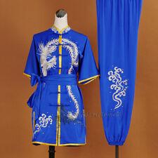 Silk Satin Tai chi Kung fu Uniform Wushu Wing Chun Suit Martial arts Costumes