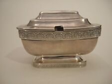 More details for antique george iii sterling silver mustard pot, john emes london 1807