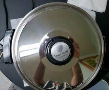 VINTAGE LUSTRE CRAFT WEST BEND LIQUID CORE ELECTRIC SKILLET,  VAPOR LID, (CLEAN)