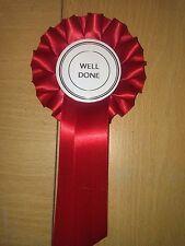 Red Well Done Rosette Dog Show Horse Pet Child