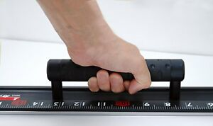 SHINWA Aluminum Cutting Rule EX with Handle Black Measuring 60cm 600mm 65031