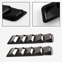 2x Cooling Panel Trim Hood Vents Louver Carbon Grain ABS Carbon Fiber Color