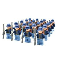 Lego WESTERN AMERICAN CIVIL WAR Blue UNION Soldiers Minifigs Cavalry