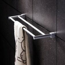 1PC Double Wall Mounted Bars Towel Rack Rail Holder Square Kitchen Bath Tool
