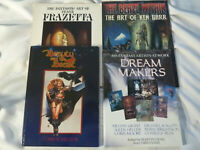 FOUR (4) books on SCIENCE FICTION/FANTASY ARTISTS: FRAZETTA; ACHILLEOS; BARR,