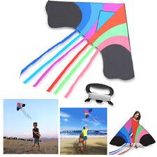 Tomi Kite Huge Rainbow Kite Outdoor Toys Water Resistant Rip Stop Fabric Toys