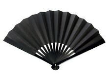 Japanese Ogata Sword Iron Fan Samurai Tessen cosplay Black  JAPAN