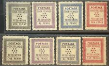 COOK ISLANDS 1 - 8 Beautiful Mint Light Hinged Set UT 917