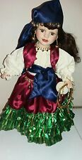 "VINTAGE STUNNING Leonardo Collection porcelain doll Gypsy Lee 17""fortune telling"