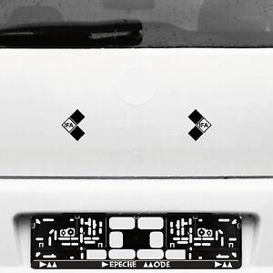 2 IFA Symbol 7cm schwarz Aufkleber Tattoo Auto Folie DDR Trabant Simson Wartburg