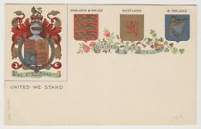 Military postcard - United We Stand - Heraldic - Patriotic