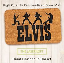 Elvis PVC Backed Novelty Funny Custom Coir Door Mat 40cm x 60cm