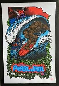 2009 PEARL JAM Seattle, WA Night 1 Sasquatch - Ames Bros Poster - Detailed Pics!
