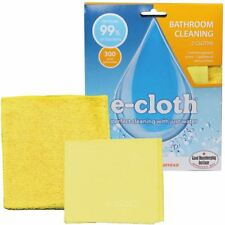 E-Cloth Baño Pack Sin Rayas de Vidrio + Limpieza Paño De Pulido Sin Químicos &