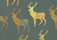 A1 | Gold Stag Poster Art Print 60 x 90cm 180gsm Deer Elegant Wild Gift #13000