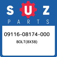 09116-08174-000 Suzuki Bolt(8x38) 0911608174000, New Genuine OEM Part