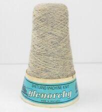 Shetland Machine 100% Pure New Wool Silver 150g Cone 4 Ply Vintage Wool