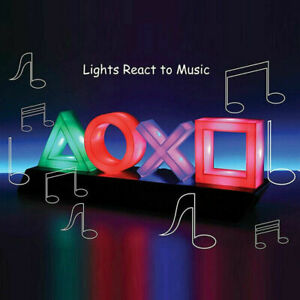 PlayStation Icons Light - LED Gaming Mood Lamp Colour Phasing & Music Reactive