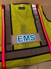 ANSI 2 Illuminated LED Safety Vest EMS ID Panel Lime Green High Vis Visibility