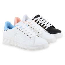 Damen Sneakers Mini-Keilabsatz Sneaker Wedges Metallic 814492 Schuhe
