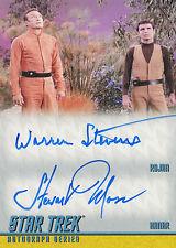 Star Trek TOS Remastered Dual Autograph Card DA23 Warren Stevens & Stewart Moss