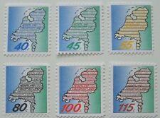Stadspost Haarlem 1987 - Serie Nederland Stadspostland, Landkaart
