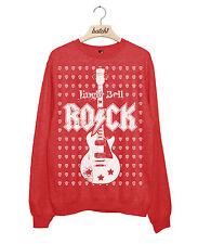 BATCH1 JINGLE BELL ROCK CHRISTMAS GUITAR PICK XMAS WOMENS SWEATSHIRT JUMPER