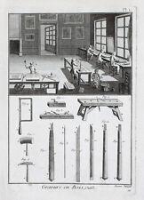 Holzstecher Holzstich Gravure Engraver Wood Werkstatt Handwerk Meißel Hammer