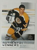 2019-20 SP Authentic Authentic Winners #AW-BO Bobby Orr Bruins HOF Great
