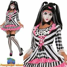 HARLEQUIN PINK CLOWN RING MISTRESS UK 10-14 Womens Ladies Fancy Dress Costume
