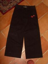 "PANTALON fille "" LONGBOARD BOTTOM "", T12A ou XS, coton noir, 4 poches"