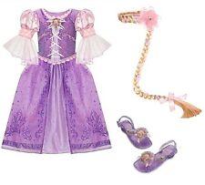 NEW Disney Store Tangled RAPUNZEL Dress Shoes Wig L 10 Braid Halloween Costume