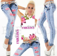 NEW Skinny Leg Women's Slim Fit Distressed Jeans Size 6 8 10 12 14 XS S M L XL
