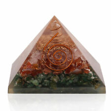 Extra Large Carnelian Stone Orgonite 70-75mm Gemstone Pyramid X-large Healing