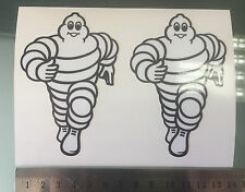 Michelin Man Stickers / Decals for Fork Front Mudguard X2 (95mm x 63mm)