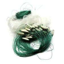25m Clear Monofilament White Green Fishing Fish Gill Cast Net with Float EPYG