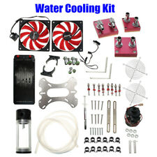 Water Cooling Kit 240 Radiator CPU GPU Block Pump Reservoir Tubing Fan Heatsink