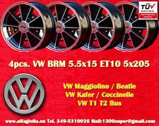 4 Cerchi Lega Volkswagen BRM 5.5x15 Maggiolino Käfer T1 T2 Wheels felgen TUV