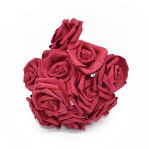 20 pcs Artificial Foam Rose Flowers Bride Bouquet For Wedding Party Decoration