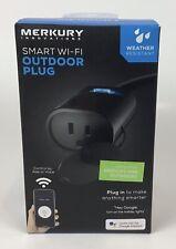 Merkury Innovations Indoor Outdoor Smart WiFi Plug No Hub Required BRAND NEW